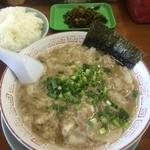 しぇからしか - チャーシュー麺+ライス+高菜別皿(2015,8)