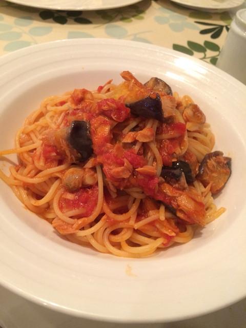 一汁三菜イタリア~の - トマトソースのパスタ