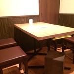 日日是 神戸 段 - こちらの禁煙席でいただきました