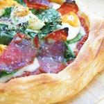 イタリア産生ハムほうれん草のパイピザ