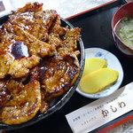 レストハウスかしわ - 炭火焼き豚丼(大)1250円