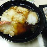 一福 - つけ汁に浸った天ぷら