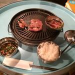 焼肉ソソモン - 肩ロース+煮込み用つけダレ+ごはん