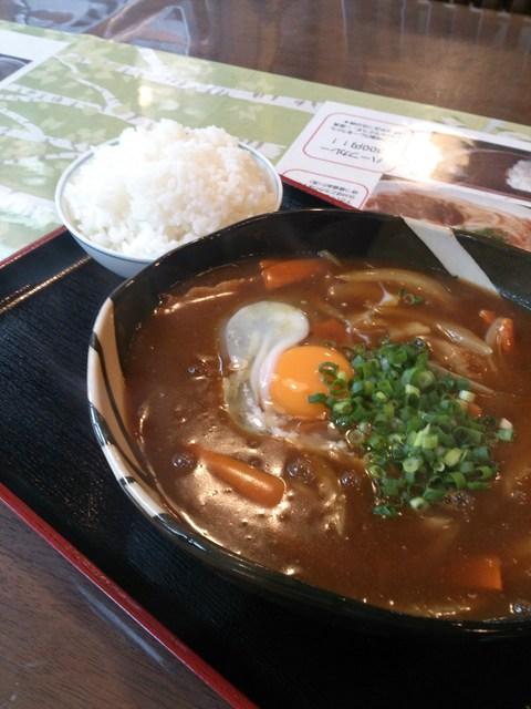 讃岐うどんさくら - 「カレーうどん」+「玉子」+「ごはん」750円
