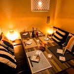 なごみ - 【ソファタイプの個室席】 おしゃれな照明とダウンライトの光がおしゃれな空間を演出★