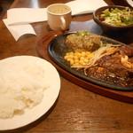 ふらんす亭 - ハラミステーキとハンバーグのセット(¥1,350)