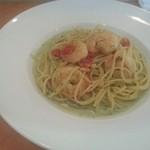 イタリア食堂 たぶち - 「小エビのバジルソース」Aセット980円税込