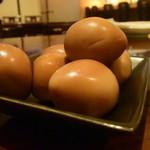 Grill & Kitchen かぼちゃの馬車 - ●燻製のうずらの卵だ、可愛い奴。