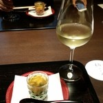 柚こう - 2015.8 先付とワイン