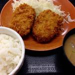 かつや - メンチカツ定食 (650円) (2015.09現在)