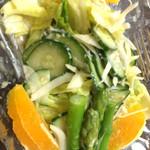 割烹 桂 - 野菜サラダ