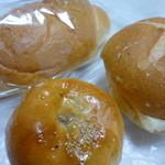 41472610 - 塩パン・つぶ餡パン・バターをサンドしたパン