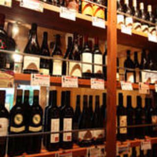 店内にはワインセラー完備!直接お手に取って選んじゃお♪