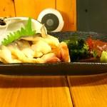 苫小牧新鮮魚市場 - 活ホッキ貝刺身(700円)