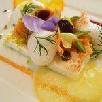 レストラン タテル ヨシノ 銀座 - ディセール:ヌガーグラッセ フリュイコンフィと共に