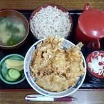 やぶ忠 - キス丼セット800円
