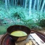 休耕庵 竹の庭の茶席 - お抹茶