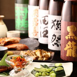 厳選された日本酒とのベアリングを楽しむ