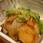 吾妻鮨 - 煮帆立と胡瓜