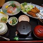 魚菜お花 - 串揚げセット