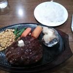 41486142 - 牛肉100%炭火焼ハンバーグ