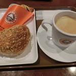 サンマルクカフェ - チョコクロ170円・北海道野菜カレーパン230円