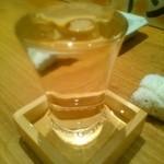 やきとり宮川 - こぼし酒(850円)