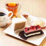 ボンサルーテ カフェ - ケーキセット800円お好きなドリンク
