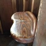 レ・グラン・ザルブル - ツリーハウスの、座り心地の良いイスでした^ ^