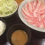もち豚しゃぶしゃぶ - もち豚しゃぶしゃぶ(1000円)
