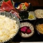 喜口屋 - 鮮魚刺盛り定食(1000円)