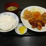 信濃庵 - 魚フライ定食