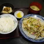 信濃庵 - 野菜イタメ定食