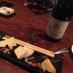 洋酒コクテール 鹿鳴館 - 美味しいチーズの盛り合わせ