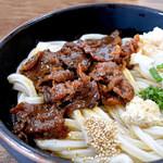 うどん処ゆたか - 甘露煮のような美味しい肉でした。