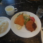 レストラン トリノ - メンチカツ&アジフライ ¥950→¥540