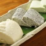 美味しい豆腐三色盛り