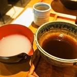 和豊 - 仙鳳趾かきざるそば(蕎麦湯)