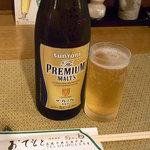 あか馬 - 瓶ビールはプレミアムモルツ¥550(税込)☆♪