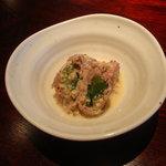 上小沢邸 - わさび菜と牛肉のマスタードビネグレット