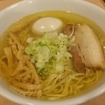 麺堂稲葉Kuki Style - アッサリ鶏塩ラーメン味玉‼