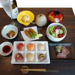 牡蠣と魚 海宝 - レディース御膳「手まり寿司」
