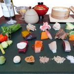 牡蠣と魚 海宝 - レディース御膳「十人十色手巻寿司」