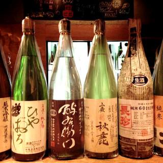 【厳選】各地から選りすぐった銘酒は約50種類!