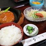 浜味館あたご - 料理写真:ハンバーグ定食