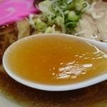 支那そば幸道 - スープ。リフト(^-^)/