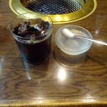 焼肉の龍園 - アイスコーヒー&デザート