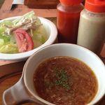 ビッグジョー - スープとサラダ 2015.08.13
