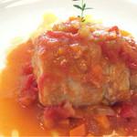 アンティカ トラットリア イルノンノ - ランチコース メインの肉 鳥料理 中に葉山産の栗が入っている