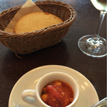 アンティカ トラットリア イルノンノ - ランチコース スープとフォカッチャ